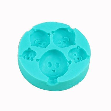 QINF Bald Boy Silicone Sugar Craft Cake Mould Chocolate Jelly Mold