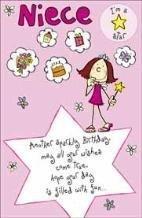 Amazon happy birthday niece greetings card home kitchen happy birthday niece greetings card bookmarktalkfo Choice Image