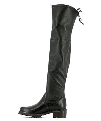 Femme Bottes Noir Cuir Weitzman Vanlandplongestretchnero Stuart 1q057S