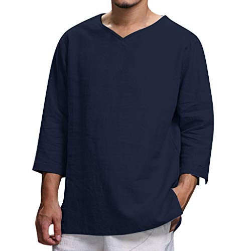 Men's Summer T-Shirt New Pure Cotton and Hemp