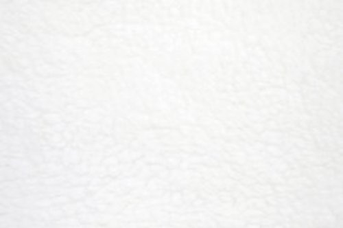 "White Anti Pill Solid Fleece Fabric, 60"" Inches Wide – Sold By The (Wool Fleece Fabric)"