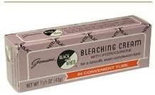 Black & White Bleaching Cream Tube 0.75 oz