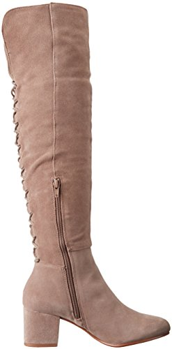 Steve Madden Womens Hansil Harness Boot Taupe Suede