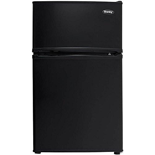 Danby DCR032C3BDB Double Door Compact Refrigerator, Black