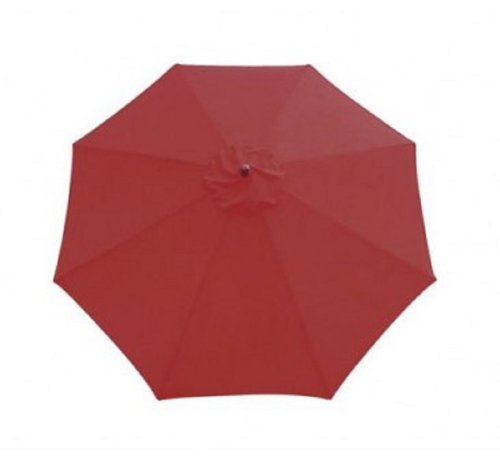 Sunline Umbrella Market Hardwood Red
