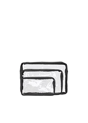 baggallini-clear-cosmetic-trio-bags-black-one-size