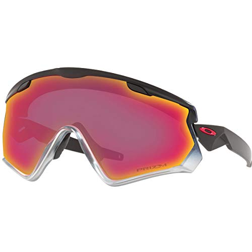Oakley Men's Wind Jacket 2.0 Sunglasses,OS,Black Fade/Red