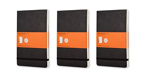 Pack of 3 Moleskine Reporter Notebook, Large, Ruled, Black, Soft Cover (5 x 8.25) (Reporter Notebooks) by Moleskine (Image #4)
