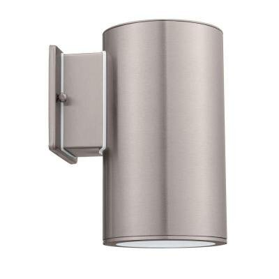 1-Light Stainless Steel Outdoor Wall-Mount Cylinder Light Fixture Riga Collection - 1 Light Cylinder