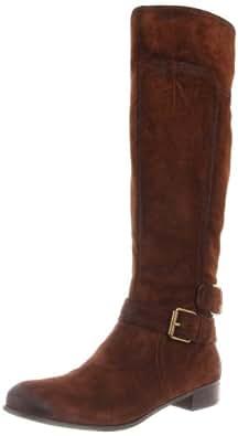 Nine West Women's Shiza Knee-High Boot,Dark Brown Suede,6 M US