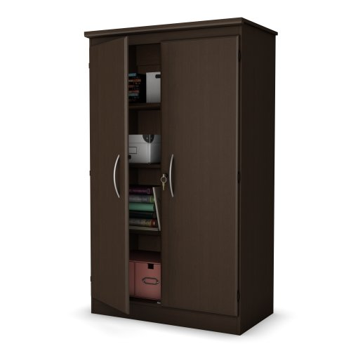 ollection Storage Cabinet, Chocolate (South Shore Wardrobe)