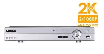 Lorex 8 Channel 2K Super HD Analog MPX Security Surveillance 2TB DVR DV8082 For Sale