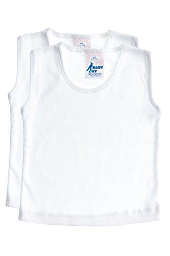 Shoulder Boatneck (Sleeveless Cotton Undershirt T-Shirt Tank Top, WTT 18-24 2-Pack)
