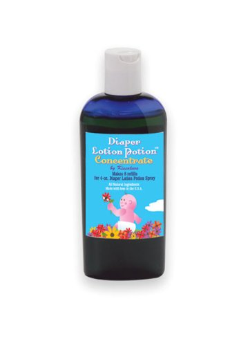 Kissaluvs Diaper Lotion Potion 4 oz. Squirt Bottle, Concentrate, Health Care Stuffs