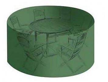 Housse de protection haute résistance table de jardin ronde + ...