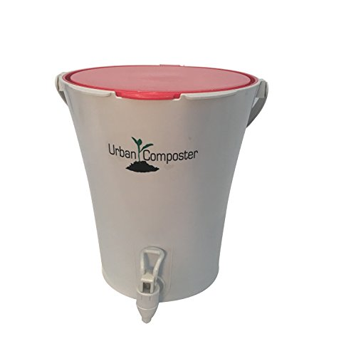 Urban Compost - Exaco Trading Co. UCsmall-R Exaco Urban Composter, 2.1 Gal, Red