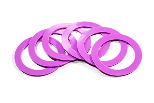 Silicone replacement gasket seals Wide mouth rings (Light Purple) Pack of 6 ()