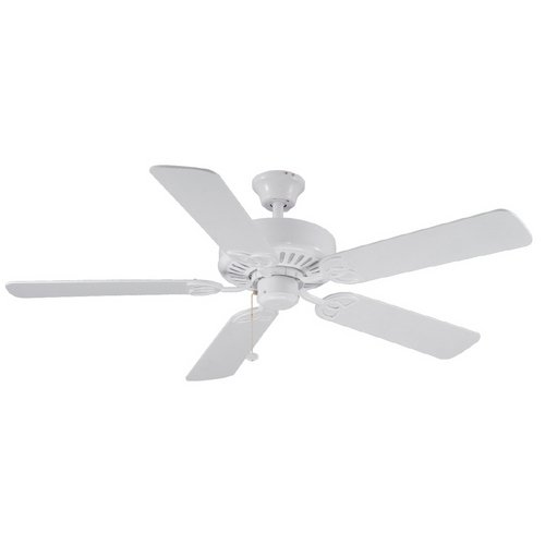 Harbor Breeze 52'' Classic Style White Ceiling Fan. Reversible Blades in White / Whitewash (ENERGY STAR) by Harbor Breeze