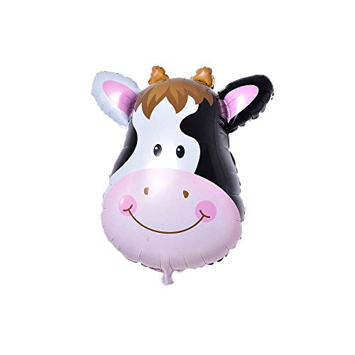 (Jungle Animal Balloon Foil Balloons for Birthday Party Decor Children Kids Gift,Lovely Zoo Farm Animal Head Jumbo Balloons for Baby Shower Party Decorations (Cow) Useful and Practical)