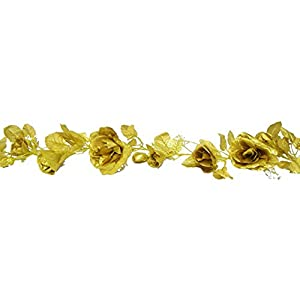Ella and Lulu Dessign 11-ft of Rose Bloom Garland Wall Décor, One Size, Gold 53