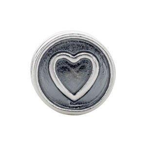 Sterling Silver Kera Heart Cylinder Bead