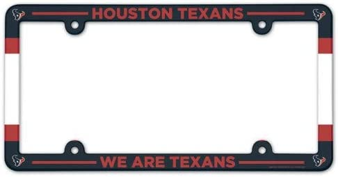 WinCraft NFL License Plate with Full Color Frame