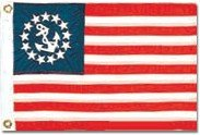 Cheap Yacht Ensign Flag Nylon 12 in. x 18 in.