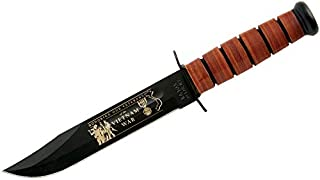 product image for Ka-Bar 9140 USMC Vietnam War Knife with Leather Sheath (7-Inch)