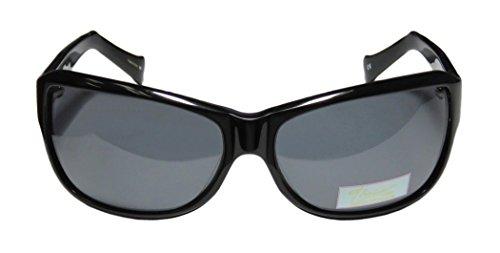 Thalia Famosa Womens/Ladies Designer Full-rim Sunglasses/Shades (61-15-120, Black) (Green Ranger Morph Suit)