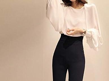 Manga abullonada Camisa de Gran tamaño sólido Blusa de época Tops para Mujeres ~ |: Amazon.es: Ropa y accesorios