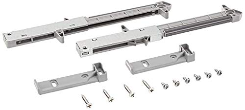 2-Pack Rok Hardware Soft Close for Wood Drawers/Soft Close Drawer Adapter/Add-On/Retrofit (Gray)