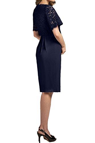 Damen Navy Ivydressing Neu Abendkleider Brautmutterkleider Kurz Spitze Partykleider Navy Glamour 2017 Chiffon dqqnEF
