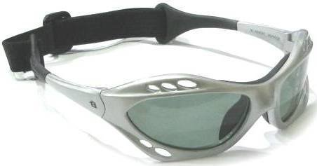 Silver Frame Polarized Goggles Floating Kite Surf Water Sport Surfing, Kayaking, Jetskiing PWC Personal Water Craft