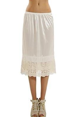[Shop Lev] Long Double Lace Satin Underskirt Skirt Extender Half Slip