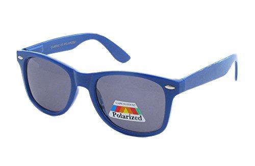 AStyles - Retro Rewind Classic Polarized Wayfarer Color Sunglasses (Blue, Black)