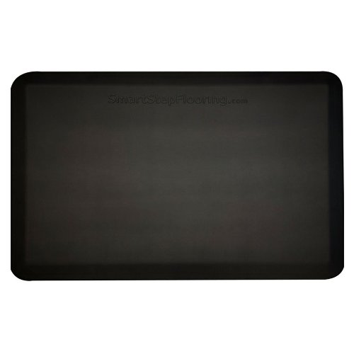 Smart Step Supreme Anti-Fatigue Polyurethane Mat, 36'' Length x 24'' Width x 3/4'' Thick, Black by Smart Step