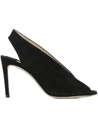 Talons Chaussures Noir SHAR85SUEBLACK Cuir Choo À Femme Jimmy xn0qgpwXt