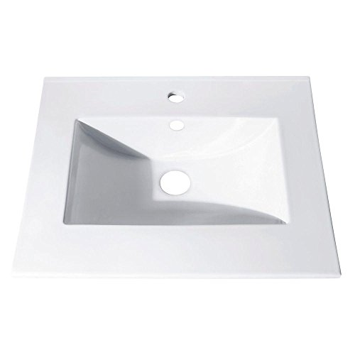 - 25 in. Vitreous China Top with Integrated Bowl (Single Hole)