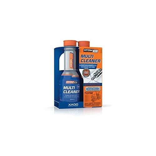 XADO, multicleaner di Atomex detergente per l'impianto di alimentazione del carburante dei motori Diesel; flacone da 250ml multicleaner di Atomex detergente per l'impianto di alimentazione del carburante dei motori Diesel; flacone da 250ml