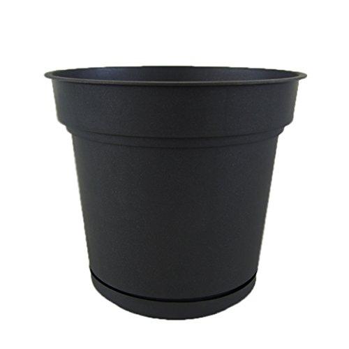 樹脂製植木鉢 ハイドポット ブラック 68cm 貯水機能受皿付 B01M672DN0 68cm|ブラック