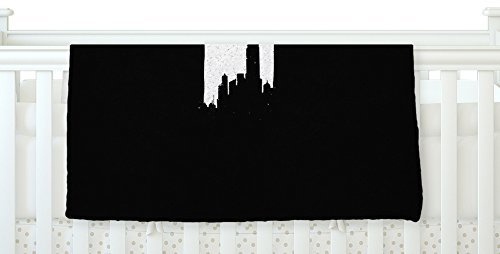 KESS InHouse BarmalisiRTB Chrysler Building Black White Fleece Baby Blanket 40 x 30 [並行輸入品]   B077ZP82ZL