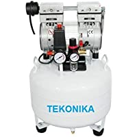 Tekonika Silent and Oil Free Dental Air Compressor Dental Equipment, Capacity –0.75 Hp 35 litres