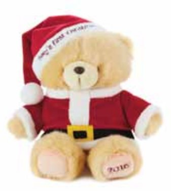 hallmark 2016 gift 1cby1680 santa bear babys 1st christmas 2016
