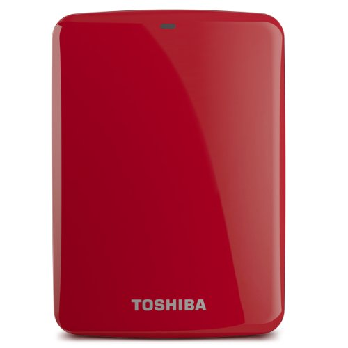 (Old Model) Toshiba Canvio Connect 2TB Portable Hard Drive, Red (HDTC720XR3C1)