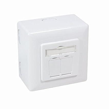 Netzwerkkabel Verl/ängerung//Connection Box//Verbinder f/ür Cat.5 Cat.6 Cat.6A Cat.7 Verlegekabel und Patchkabel BIGtec werkzeugfreies Verbindungsmodul