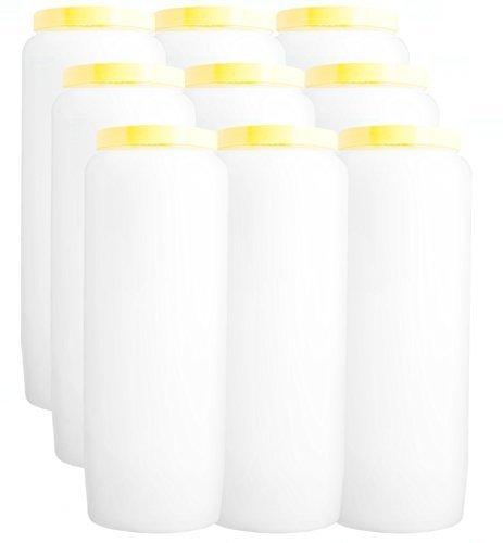 Christ-en-or 9 X Novena Candle WHITE burns 9 days // 100/% vegetable