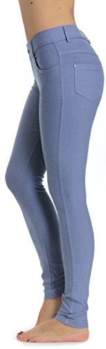 (Prolific Health Women's Jean Look Jeggings Tights Yoga Many Colors Spandex Leggings Pants S-XXL (Large, Slate Grey) )