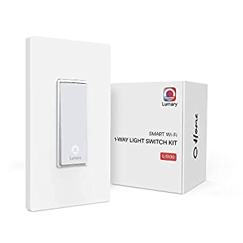 Lumary Smart Wi-Fi Electrical In-Wall Decor Light Switch for LED, CFL, Halogen, and Incandescent Bulbs, with Timer and Wireless Control, Integrate with Alexa, Google Assistant, IFTTT (No Hub Required)