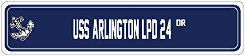 USS ARLINGTON LPD 24 Street Sign AMPHIBIOUS TRANSPORT Navy Ship Veteran Sailor