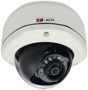 ACTI E73A, 5MP, IP RJ45 Connection Outdoor Network Dome Camera with Night Vision, 2.93mm Fixed Lens